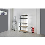 Schwerlastregal Jens 90/180/40 cm - Silberfarben/Naturfarben, Holz/Metall (90/40/180cm) - HOMEZONE