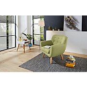 Sessel Somero - Limette/Naturfarben, MODERN, Holz/Holzwerkstoff (89/86/78cm) - OMBRA