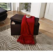 Sitzbox Classic Schwarz - Schwarz, MODERN, Holzwerkstoff/Textil (76/38/38cm)
