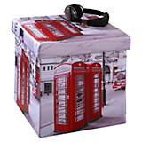 Sitzbox London - Multicolor, MODERN, Holzwerkstoff/Textil (38/38/38cm)