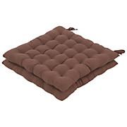 Sitzkissen Bianca - Braun, KONVENTIONELL, Textil (38/38/5cm) - LUCA BESSONI