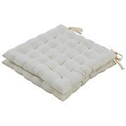 Sitzkissen Bianca - Weiß, KONVENTIONELL, Kunststoff/Textil (38/38/5cm) - LUCA BESSONI