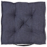 Sitzkissen Emma - Schwarz, ROMANTIK / LANDHAUS, Textil (40/40/8cm) - JAMES WOOD