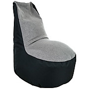 Sitzsack Alex - Schwarz/Grau, MODERN, Textil (95/80/86cm) - OMBRA