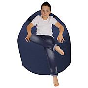 Sitzsack Buzz Soft - Blau/Dunkelblau, MODERN, Textil (85/120/85cm)