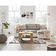 Sjedeća Garnitura Clint - bijela/siva, Konvencionalno, tekstil (225/71-83/152cm) - MODERN LIVING