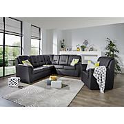 Sjedeća Garnitura Sjedeća Garnitura - bež/crna, Konvencionalno, tekstil (258/222cm)