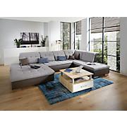 Sjedeća Garnitura Sjedeća Garnitura - boje blata/siva, Moderno, tekstil (189/368/226cm)