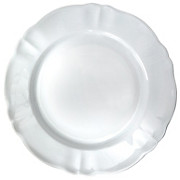Speiseteller Jesko - Weiß, KONVENTIONELL, Keramik (26cm) - OMBRA