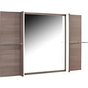 Spiegel Avensis - Bronzefarben, MODERN, Glas/Holzwerkstoff (120/80/17cm) - LUCA BESSONI