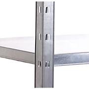 Steckregal Shelf 100/195/40 Grau - Grau, KONVENTIONELL, Metall (100/195/40cm)