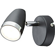 Strahler Arian - Chromfarben/Anthrazit, KONVENTIONELL, Kunststoff/Metall (8/13,5cm) - LUCA BESSONI