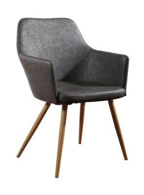 Stuhl Betty   Anthrazit/Braun, MODERN, Textil/Metall (51/86