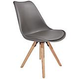 Stuhl Levi Grau - Eichefarben/Grau, MODERN, Holz/Kunststoff (48/81/57cm) - OMBRA
