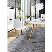 Stuhl Rivan Weiß - Braun/Weiß, MODERN, Kunststoff/Metall (45/84,5/52,5cm)