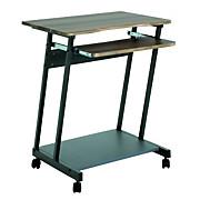Számítógépasztal Print - diófa színű, modern, műanyag/fém (60/75/48cm)