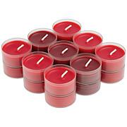 Teelicht Magdalen - Klar/Rot, KONVENTIONELL, Metall - OMBRA