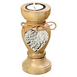 Teelichthalter H:15 cm - Naturfarben, LIFESTYLE, Holz (7/15cm)