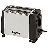 Toaster Daniel - Silberfarben/Schwarz, KONVENTIONELL, Kunststoff/Metall (25/12,5/18cm) - BONO