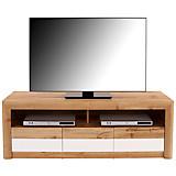 TV-ELEMENT Kashmir New - Eichefarben/Schwarz, MODERN, Holzwerkstoff (142/50/49cm) - JAMES WOOD
