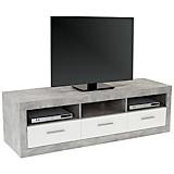 TV-Element Malta - Schwarz/Weiß, MODERN, Holzwerkstoff (185/50/42cm)