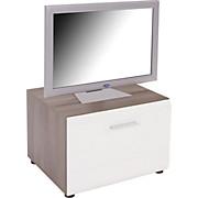 TV-rack Avensis - Bronzefarben/Weiß, MODERN, Holz (60/41/50cm) - LUCA BESSONI