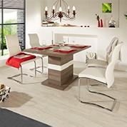 Elegante Esszimmermöbel von Möbelix in Weiss und Naturlook