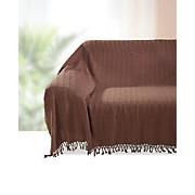 Überwurf Irina - Braun, KONVENTIONELL, Textil (210/260cm) - OMBRA