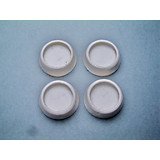 Vibrationsdämpfer 4-teilig - Weiß, KONVENTIONELL, Kunststoff (6,7cm)