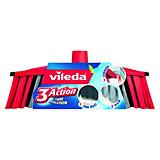 Vileda Zimmerbesen 3action - Rot/Schwarz, KONVENTIONELL, Kunststoff (30/11,8/6,3cm) - VILEDA