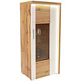 Vitrina Eleganza - bijela/boje hrasta, Moderno, staklo/drvni materijal (65/136.3/38cm)