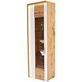 Vitrina Eleganza - bijela/boje hrasta, Moderno, staklo/drvni materijal (65/201,3/38cm)