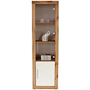 Vitrine Frame - Eichefarben/Weiß, KONVENTIONELL, Glas/Holzwerkstoff (56/200/42cm)