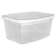 Wäschekorb Rattan 40 Liter - Weiß, KONVENTIONELL, Kunststoff (56/39/22cm) - PLAST 1