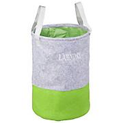 Wäschetonne Basket - Grau/Grün, KONVENTIONELL, Textil (40/60/40cm) - HOMEZONE