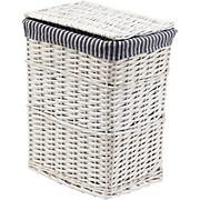 Wäschetonne Bona Gr. S - Weiß/Grau, KONVENTIONELL, Holz/Textil (39/28/50cm) - OMBRA