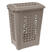 Wäschetonne Per, 60 Liter - Taupe, KONVENTIONELL, Kunststoff (60/34/45cm)
