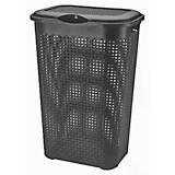 Wäschetonne Rattan 50 Liter - Grau, KONVENTIONELL, Kunststoff (39/29/57cm) - PLAST 1