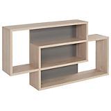 Wandregal Dream - Eichefarben/Grau, MODERN, Holzwerkstoff (90/48/16cm)
