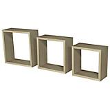 Wandregal Simple 3 - Eichefarben, MODERN, Holzwerkstoff/Kunststoff (30/30/12cm)