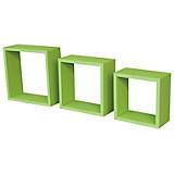 Wandregal Simple 3 - Grün, MODERN, Holzwerkstoff/Kunststoff (30/30/12cm)