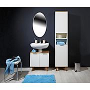 Waschbeckenunterschrank Turin 4 - Weiß, MODERN, Holzwerkstoff (60/60/30cm)
