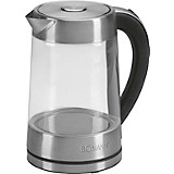 Wasserkocher Wk 5023 Cb/wk 3501 G - Edelstahlfarben, KONVENTIONELL, Glas/Metall (22/24/15cm)