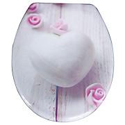 WC-Sitz Duroplast Romantic - Rosa/Weiß, MODERN, Kunststoff (37,4/45,3cm)