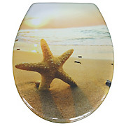 WC-Sitz Duroplast Sea Star - Sandfarben/Creme, MODERN, Kunststoff (37,4/45,3cm)