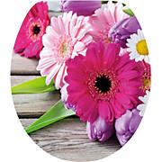 WC-Sitz High Gloss Flowers - Multicolor, MODERN, Holzwerkstoff (37/43,5cm)