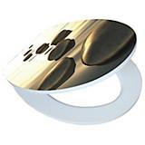 WC-Sitz High Gloss Sea Stone - Creme/Braun, MODERN, Holzwerkstoff (37/43,5cm)