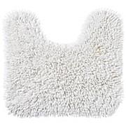 WC Vorleger Lilly, mit Schnitt - Weiß, KONVENTIONELL, Textil (45/50cm) - OMBRA