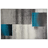 Webteppich Florence,120x170cm - Beige/Petrol, KONVENTIONELL, Textil (120/170cm) - OMBRA