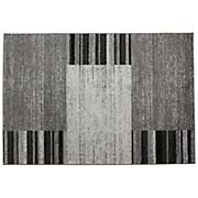 Webteppich Florence - Schwarz/Grau, KONVENTIONELL, Textil (120/170cm) - OMBRA
